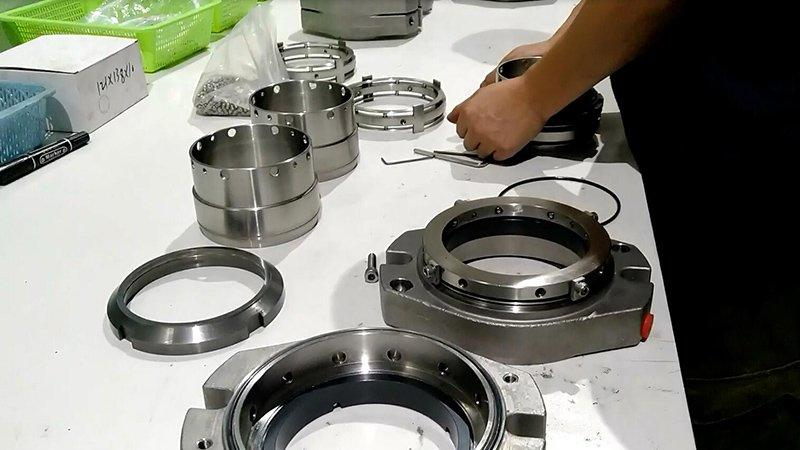 Making AES double cartridge seal convertor for flowserve pump