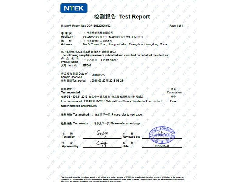 Rubber Testing Report - 1